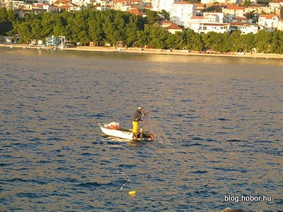 Fishermen in MAKARSKA, Croatia