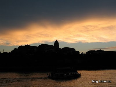 BUDAPEST, Hungary - Silhouette of the Castle from the Danube
