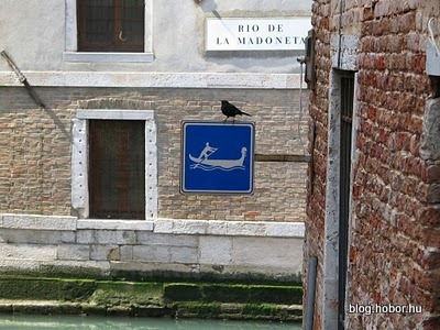 VENICE, Italy - 'Road'-sign