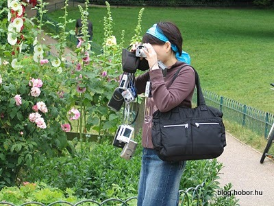 BRIGHTON, East Sussex, UK -  Tourist in the garden of the Royal Pavilion
