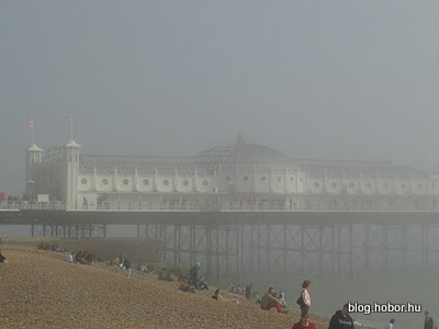 BRIGHTON, East Sussex, UK - Brighton Pier (in haze :-)