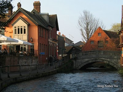 WINCHESTER, Hampshire, UK - River Itchen