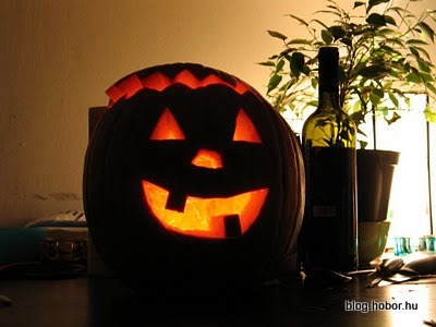 Halloween Pumpkins, Jack O' Lanterns - ...and the last one is a guest, made by our friend Balázs.