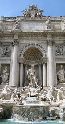Trevi Fountain, ROME, Italy - (This last picture is a merge of two photos.)
