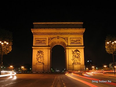 Arc de Triomphe by night, PARIS, France