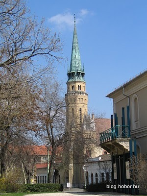 CEGLÉD, Hungary - The Lutheran church is right opposite