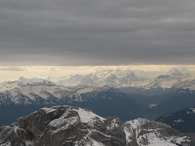 Mount PILATUS, Switzerland - When we got up, it was almost snowing, we got dark clouds around.